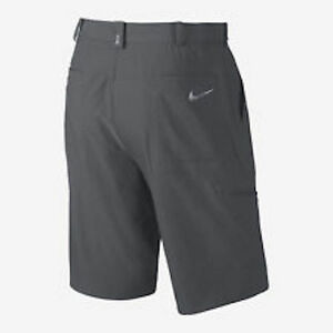 Nike TW Dri-FIT Practice Flat Front Tennis Shorts Mens Size 32 Gray 619758-021