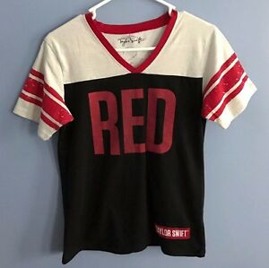 Taylor Swift Football Jersey Style Red Tour T-Shirt #13 Women's Size Lg.