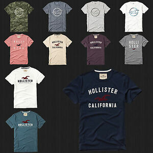 NWT HOLLISTER Printed And Applique Logo Graphic Men T Shirt Tee By Abercrombie $19.99
