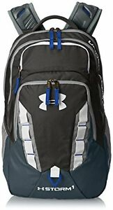 NEW Under Armour Storm Recruit Backpack Imported Stealth GrayRoyal One Size