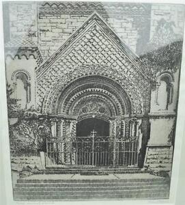 Portal University Of Toronto Framed Stone Lithograph Signed Owen Staples $167.59
