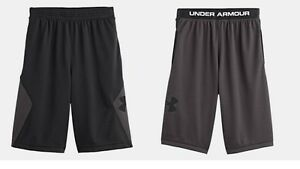 NWT Under Armour from downtown LIGHTWEIGHT mesh BLACKgry shorts YOUTH boys M YM