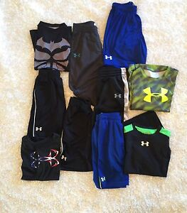 Under Armour Lot Boys Size 7 Pantsshortsshirts Youth Small