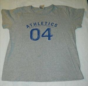 Misses Girls Size Large Grey Nike Sports Apparel Athletics T-Shirt 90% Cotton