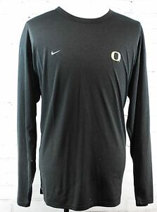Nike Team U of Oregon Ducks Fit Dry Long Sleeve Athletic Workout Shirt 3XL Black