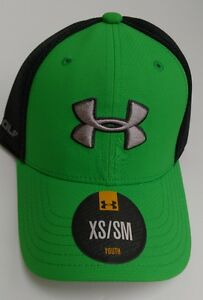 Under Armour UA Youth Neon Lime Green Golf Hat XSSM Fitted New