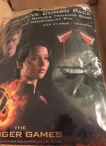 Hunger Games Costume Adult XLXXL. NO Pin   District 12 Replica Training Shirt
