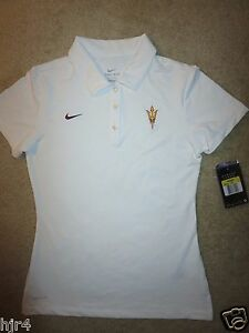 Arizona State Sun Devils ASU Nike Dri-Fit Golf Polo Shirt Womens SM S NEW