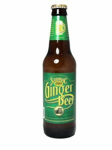 Saranac Brewery Ginger Beer 12 BOTTLES Glass Bottle Soda Pop