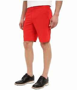NIKE GOLF MODERN Woven TECH mens Shorts MODERN FIT 725706 RED MSRP$90