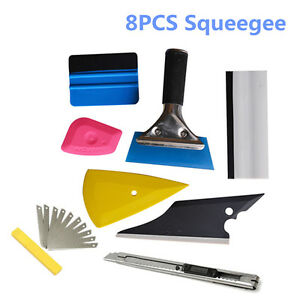 NEW 8* Squeegee Car Window Tinting Film Wrapping Install Applicator Tools Kits