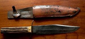 Vintage Bowie Knife With Scabbard