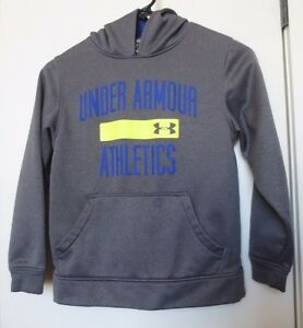 Under Armour Boys' Size YSM JP P (Youth 7-8) Gray Pullover Hoodie