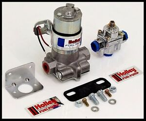 HOLLEY 110 GPH BLUE ELECTRIC FUEL PUMP WITH REGULATOR # 12 802 1 KIT