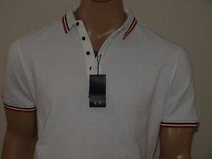 Armani Exchange Authentic Contrast Pique Polo Shirt NWT