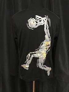 Simply For Sports Boy's Shirt Long Sleeve Basketball Black Size Large