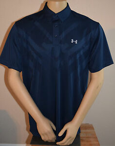 NWT UNDER ARMOUR MENS ARMOURVENT HEATGEAR 2XL XXL LOOSE FIT NAVY POLO GOLF SHIRT