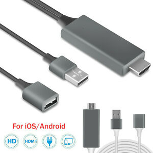 HDMI Mirroring Cable Phone to TV HDTV Adapter For iPhone XXS Max78 PlusiPad