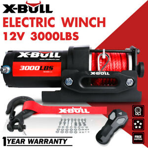 X-BULL  12V 4500LBS Electric Winch Steel Cable Towing Truck Off Road 4000LBS ATV