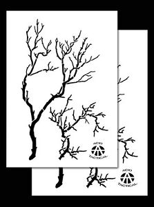 2 PACK Vinyl Airbrush Camo Stencils Camouflage for Duracoat 14quot; Gnarly Branch