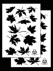 2 PACK Vinyl Airbrush Camo Stencils Camouflage for Duracoat 14quot; Leafy Maple