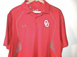 OKLAHOMA SOONERS NWT Under Armour Performance Polo Shirt Mens L Large