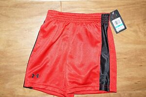 NWT Red black Under Armour baby toddler shorts in size 24 months boy's girl's