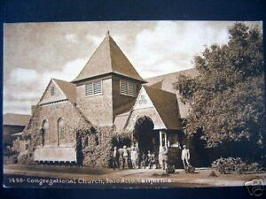 PALO ALTO,CA 1900's CONGREGATIONAL CHURCH no. 1498 RARE