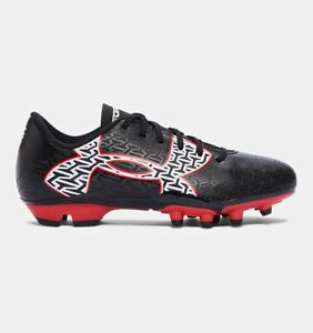 Under Armour UA ClutchFit Force 2.0 Boys Soccer Cleats Shoes Youth BlackRed
