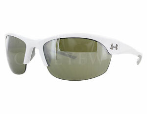NEW Under Armour Marbella 8600066 100931 Shiny White  Gameday Sunglasses