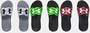 Under Armour Boys UA Strike Flash Slides Sandals Many Sizes
