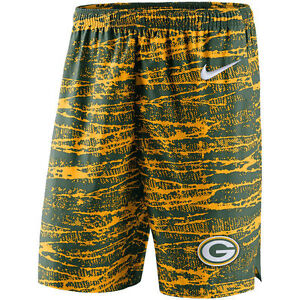 Limited Nike Dri-FIT NFL Green Bay Packers 2017 Shield Performance Player Shorts
