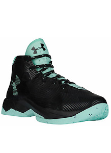 Under Armour UA Curry 2.5 Basketball Shoes Youth Girls Size 7 Black Mint