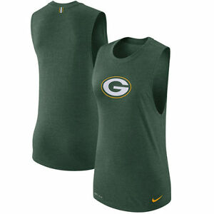 Limited Edition NFL Nike Dri-Fit Green Bay Packers Women's Logo Muscle Tank Top