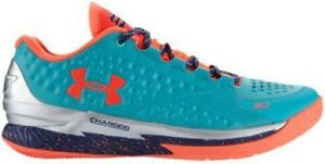 Under Armour Charged Foam Curry 1 Low - Men's Hyper GreenPurpleBlaze Orange
