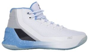 Under Armour Curry 3 - Boys' Grade School WhiteOpal BlueBlack 4061-106