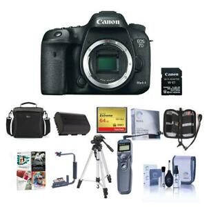 Canon EOS 7D Mark II DSLR Camera Body wWi-Fi Adapter Kit WPremium Acc Bundle