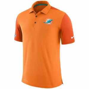Limited Nike Dri-FIT NFL 2017 Miami Dolphins Team Issue Performance Polo Shirt