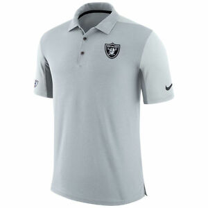 Limited Nike Dri-FIT NFL 2017 Oakland Raiders Team Issue Performance Polo Shirt