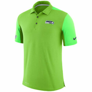 Limited Nike Dri-FIT NFL 2017 Seattle Seahawks Team Issue Performance Polo Shirt
