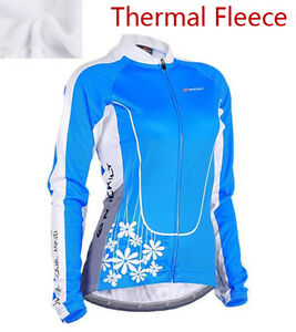 Women's Bicycle Shirts Outdoor Sports Windproof Cycle Jerseys Bike Clothing Blue