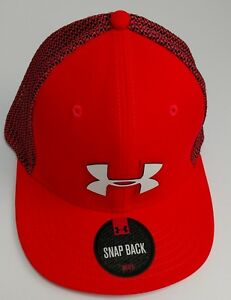 Hat Cap Under Armour UA Snap Back Adjustable Golf Hat Red New
