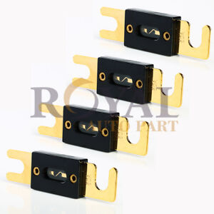 4 Nickel Plated ANL Fuse Auto Stud Fuses 80A AMP Gold Plated $7.92