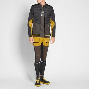 NikeLab Gyakusou Dry Utility Running Tights (Men's Sz XL) YellowBlackPewter