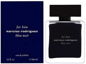Narciso Rodriguez Him Bleu Noir Eau de Toilette Spray for Men 3.3 oz (Pack of 5)