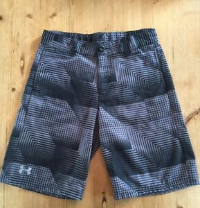 Under Armour Boys Black Graphic Flat Front Golf Chino Shorts Youth YMD M MINT!!!