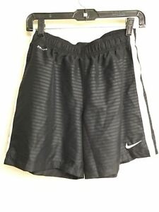 Boy's NIKE DRY FIT S03 Black Soccer Shorts Size M