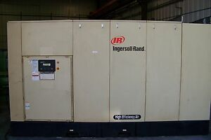 Ingersoll Rand 450hp. two stage 125 psi Rotary Screw Air compress yr. 2007 warr