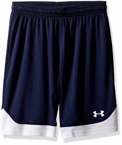 Under Armour Boys Maquina Shorts Midnight NavyWhite Youth Large