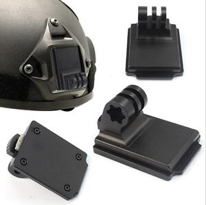 Bracket Mounting Tactical Helmet Base Camera Accessories For GoPro 3 NVG Mount